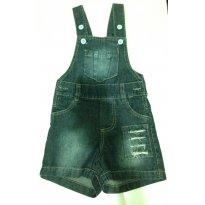 Macaquinho Jeans - 6 a 9 meses - Popcorn