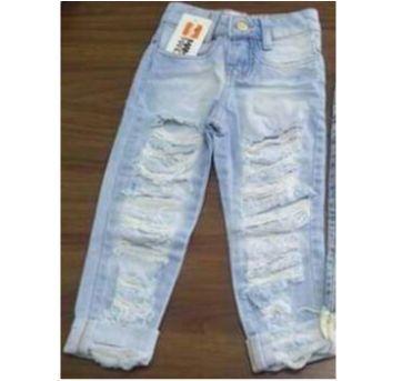 Calça jeans destroyed Blogueirinha - 4 anos - Mamãe Mandou