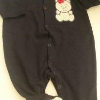 Macacão detalhe poa - Recém Nascido - Baby fashion