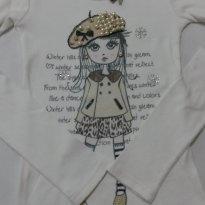 Blusa ribanada boneca Pituchinhus - 12 anos - Pituchinhus
