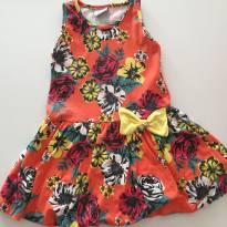 Vestido Estampado - 3 anos - Fakini