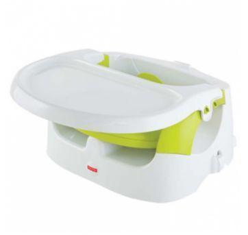 Cadeira de Alimentação Portátil Fisher-Price (2x1) Verde e Branca - Sem faixa etaria - Fisher Price