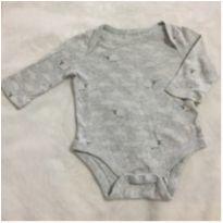 Body Cinza Ovelhinha - Gap - 0 a 3 meses - Baby Gap