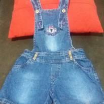 Jardineira jeans - 4 anos - Não informada