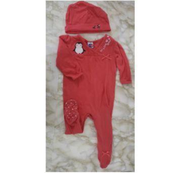 Macacão baby pinguim + touca TIPTOP - 9 a 12 meses - CARTERS/TIPTOP/ZARA e Tip top e splah about