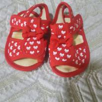 Sandália vermelha - 13 - Pimpolho