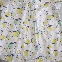 Vestido de tecido - 9 a 12 meses - Baby Club