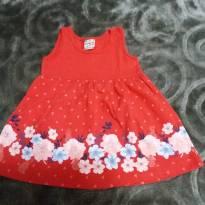 Vestidinho Brandili Vermelho - 3 a 6 meses - Brandili