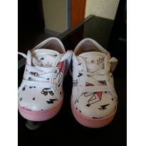 Tenis rosa e branco - 19 - Molekinha
