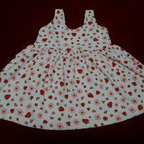 Vestido Moranguinho - 6 a 9 meses - Barra Mansa