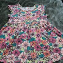Vestido de florzinhas - 1 ano - Brandili