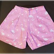 Short Infantil Flamingo 6 Anos - 6 anos - PIMENTINHA KIDS