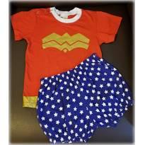 Pijama Fantasia Mulher Maravilha 4 Anos - 4 anos - Veggi