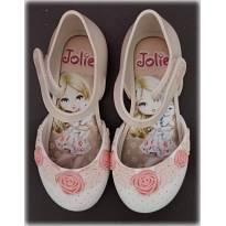 Sapatilha Boneca com Flores Jolie Tam 23-24 - 23 - Grendene