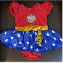 Body Fantasia Mulher Maravilha - 6 a 9 meses - Costureira
