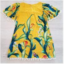 Vestido Flores 4-6 Anos - 5 anos - Outras