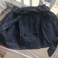 Saia jeans com botoes e faixa na cintura!