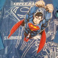 Camiseta manga longa super man - 10 anos - Marlan