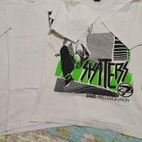 Dupla camisetas 12 anos. - 12 anos - Nacional