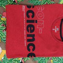 Camiseta manga longa vermelha - 12 anos - Ex planet