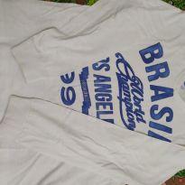 Camiseta manga longa Branca - 12 anos - Broksfield