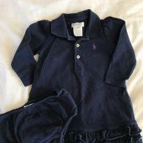 Vestido azul marinho Ralph Lauren - 6 meses - Ralph Lauren