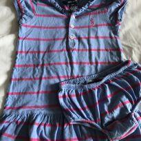 Vestido lilás e pink Ralph Lauren - 18 meses - Ralph Lauren