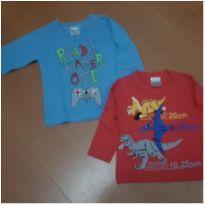 Conjunto 2 camisetas ML Play e Dino - 1 ano - Não informada