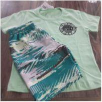 conjunto camiseta/bermuda microfibra - 1 ano - Fakini