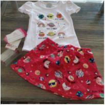 conjunto blusa/saia short - 2 anos - Malwee