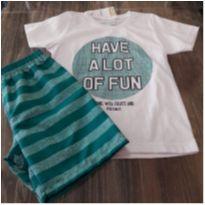 conjunto camiseta/bermuda microfibra - 3 anos - Malwee