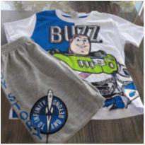 conjunto camiseta/bermuda moletom - 3 anos - Fakini