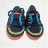 Tênis Bebê Azul Jeans e Colorido - 15 - Não informada