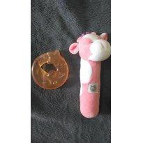 Chocalho vaca Zip Toys + mordedor Nuk - Sem faixa etaria - Zip Toys e NUK