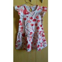Vestido Hering Baby super macio - 12 a 18 meses - Hering Baby