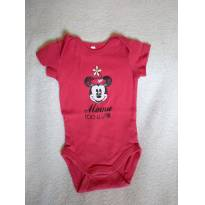 Body Minnie M - 3 a 6 meses - Disney