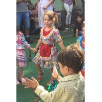 """Vestido caipira """"festa junina"""" tamanho 4"""