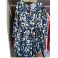 Vestido florido em viscose Tam 4 - 4 anos - Figurinha