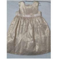Vestido festa dourado 18 a 24 meses - 18 a 24 meses - Gymboree
