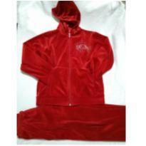 Conjunto plush vermelho Tam 4 - 4 anos - sem etiqueta