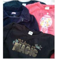 Lote blusas tam 6 de ótimas marcas - 6 anos - Várias