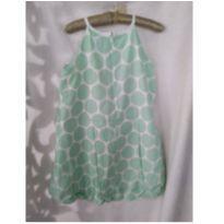 Vestido balone verde água