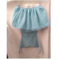 saia azul sereia bebê Disney Tam 2 - 2 anos - Disney