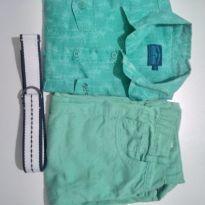 Conjunto: camisa+shorts+cinto - 6 anos - Fuzarka