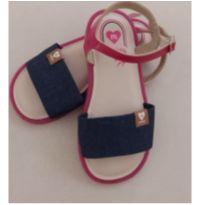 Sandalia da Molekinha rasteirinha jeans - 25 - Molekinha