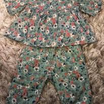 Conjunto de florzinha - 3 a 6 meses - Baby Gap