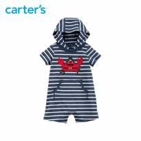macacão romper  carters menino com capuz curto - 3 meses - Carters - Sem etiqueta