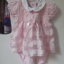 Vestido Body Rosa usado 1 vez - 3 meses - Não informada