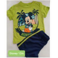 CONJUNTO DISNEY MICKEY SHORTS E CAMISETA MENINO 12M - 1 ano - Disney
