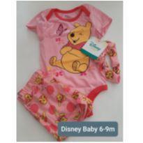 CONJUNTO DISNEY BABY URSINHO PUFF MENINA 6M - 6 a 9 meses - Disney baby